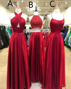 Buy New Style Long Red Prom Dresses, Simple Satin Floor Length Party Bridesmaid Dresses on sale.Shop prom or formal dresses from Promdress. Find all of the latest styles and brands in Junior's prom and formal dresses at Senior Prom Dresses, Unique Prom Dresses, Bridesmaid Dresses, Formal Dresses, Maxi Dresses, Elegant Dresses, Party Dresses, Evening Party Gowns, Long Evening Gowns