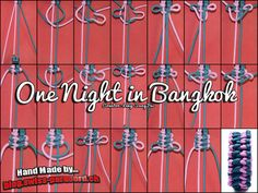 One Night in Bangkok Tutorial | Swiss Paracord