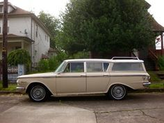 1962 Rambler Classic Custom Cross Country Wagon OLD PARKED CARS