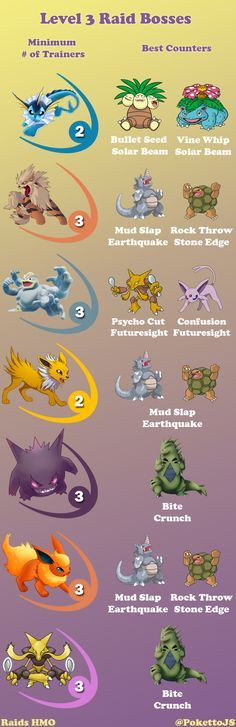 [Photo] Level 3 Raid Bosses Cheat Sheet
