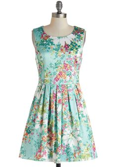 ModCloth Silky Simplicity Dress. More pastels here: http://www.wantering.com/womens-clothing/pastels/