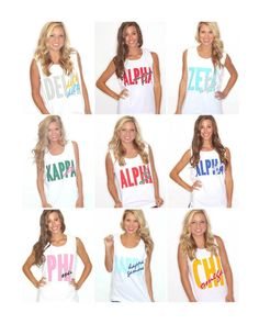 It doesn't get better than these retro sorority tanks! Head over to shopriffraff.com and pick up something from our GREEK LOVE line today!
