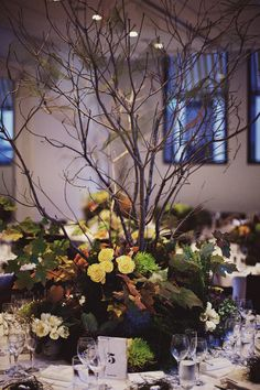 Enchanted Forest Centerpiece | Jonas Peterson Photography