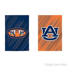 AUBURN TIGERS Evergreen Garden Flag 2 diff sides 12.5 x 18 WAR EAGLE NCAA