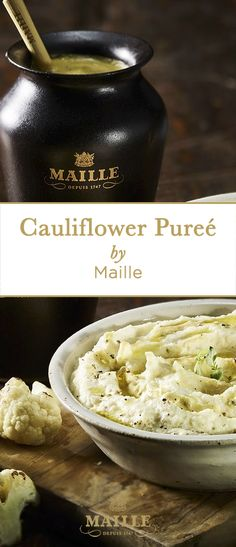 Try this smooth, rich, luxurious Cauliflower puree - low-carb with a dash of fragrant Maille's black truffle mustard.