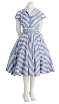 Candy Stripe Dress: I HAVE to make a chevron dress! It makes the waist look tiny!