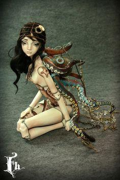 Doll , one of a kind dolls by Aidamaris Roman Forgotten Hearts by FHdolls, via Flickr