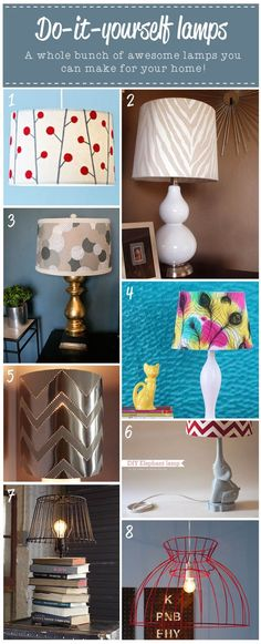 DIY lamps, maybe try rope or doilies