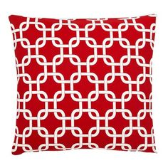I pinned this Links Pillow in Red from the Frog Hill Designs event at Joss and Main!