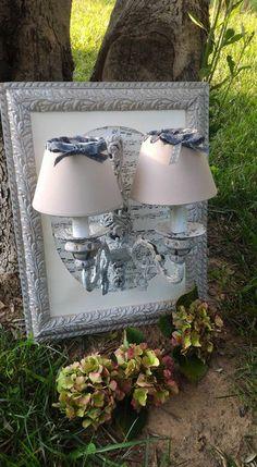 Decorazioni luminose - applique da parete - un prodotto unico di petitemaisonshabby su DaWanda