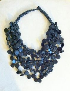 Beautiful Vintage Wooden Necklace - $32.00