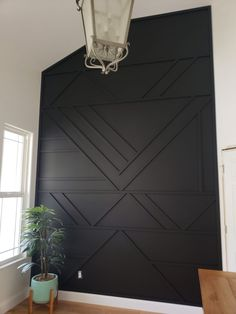 Modern Accent Wall Modern Accent Wall Madsen Remodeling MadsenRemodel House Interiors Just finished up this smaller but super cool accent wall Black Wall nbsp hellip Home Renovation, Home Remodeling, Kitchen Remodeling, Cheap Home Decor, Diy Home Decor, Black Walls, My New Room, Home Design, Design Design