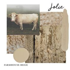 Jolie Paint in FARMHOUSE BEIGE is a beige with subtle green undertones. It is often used in Farmhouse and French Country styles. We love to pair Farmhouse Beige with Jolie pinks, reds, and whites. COVERAGE: One quart covers approximately 150 square feet. One 4oz sample covers approximately 18.8 square feet. Actual coverage may vary depending on surface and application. Country Paint Colors, Beige Paint Colors, Farmhouse Paint Colors, Farmhouse Decor, Farmhouse Style, Farmhouse Remodel, Interior Paint, Interior Decorating, Vintage Industrial Decor