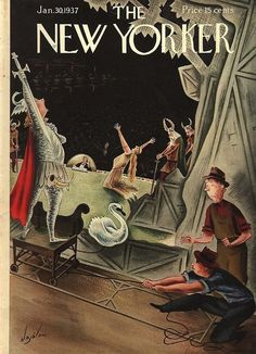 The New Yorker magazine, cover Jan.1937 by Constantin Alajálov