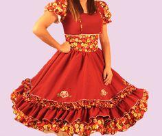 Huasa chilena, Vestidos de china! Square Dance, Cosplay, Summer Dresses, Clothes, Fashion, Hillbilly, Block Dress, Briefs, Molde