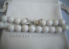 David Yurman Men`s Silver Spiritual Bead Bracelet,White Agate 10mm - http://designerjewelrygalleria.com/david-yurman/david-yurman-mens-silver-spiritual-bead-braceletwhite-agate-10mm/