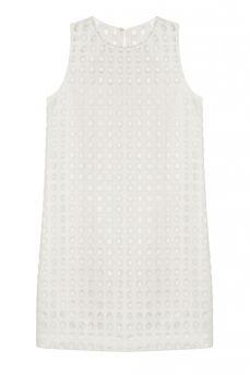 LACE EYELET SHIFT DRESS