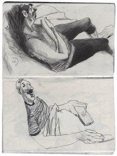 scanned sketchbook by Artem Krepkij, via Behance