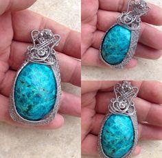 Chrysocole pendant by Zojani
