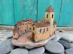 Miniature ceramic Italian village square | Flickr - Photo Sharing!