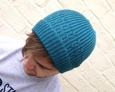 Mens beanie hat wool winter accessory guys knitwear by missbelluk, £15.00
