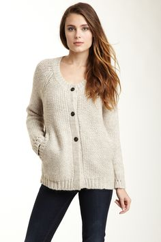 Panther Knit Button Cardigan Sweater on HauteLook