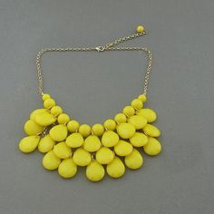 Bubble necklace Yellow necklace Statement necklace by AnnyJewelry, $10.90
