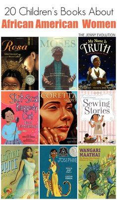 20 African American Children Books About Women. Perfect for Black History Month and Women's History Month!