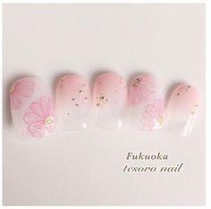 あなたの浴衣姿を倍可愛くする。浴衣に似合うおすすめ〈和風ネイル〉カタログ*゜ | GIRLY Toe Nail Art, Toe Nails, Pink Nails, Nail Nail, Cherry Blossom Nails, Trendy Nails, Nail Arts, Some Fun, Nail Art Designs