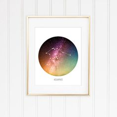 Check out this item in my Etsy shop https://www.etsy.com/listing/254700937/aquarius-constellation-print-zodiac-sign