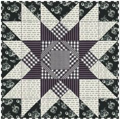 Farmhouse Star Quilt - Free Pattern - Nana's Favorites Created in black and white fabric this Farmhouse Star quilt featuring an oversized star is classic and modern with a touch of retro feel. Star Quilt Blocks, Star Quilt Patterns, Star Quilts, Pattern Blocks, Block Quilt, Cute Quilts, Mini Quilts, Scrappy Quilts, Snowball Quilts