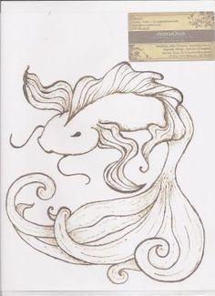 Henna by Raven. Just doodling on a plastic sheet protector. Koi Fish Drawing, Fish Drawings, Art Drawings, Henna Designs, Art Designs, Henna Pictures, Fish Artwork, Henna Ideas, Henna Tattoos