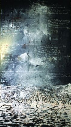Anselm Kiefer (b ) Collection of the Artist, Painting, mixed media Anselm Kiefer, Landscape Art, Landscape Paintings, Landscapes, Musée Rodin, Willem De Kooning, Art Abstrait, Wassily Kandinsky, Contemporary Paintings