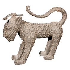 Benin Bronze Aquamanile Of A Royal Leopard, 18th century