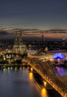 Cologne, Germany - I have been here twice, and Karneval here is absolutely amazing. The only thing I will have to go back and see is the bridge of locks.