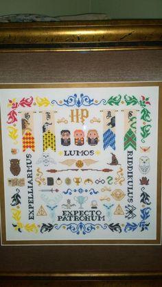 Harry Potter cross stitch! I need this....