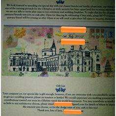 The most tacky tasteless wedding invitation I ever seen !  I am picturing a wicked bridezilla created this, good luck to the groom.