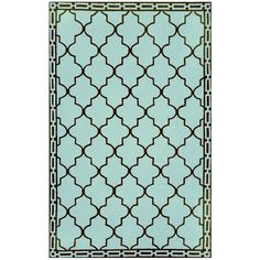 I pinned this Clay Tile Rug in Aqua from the Liora Manne event at Joss and Main!