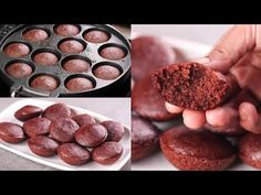 Vegetarian Chocolate Cake, Mini Chocolate Cake, Yogurt Cups, Cooking Equipment, Mini Cakes, Cake Cookies, Food Videos, Cake Recipes, Muffins