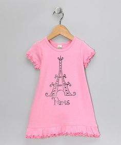 This Pink 'Paris' Dress - Infant, Toddler & Girls is perfect! #zulilyfinds