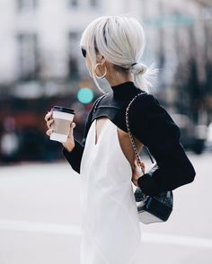 Cut out sweater tops + slip dreses//The Haute Pursuit 2020AVE Outfit Inspo