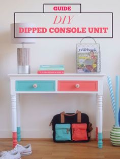 Library books, jackets, keys, and homework— your console table holds it all, and it's starting to look a little worse for the wear. Give the console unit an upgrade by creating a colorful dipped pattern on the legs and drawers. A few hours to spare plus a little sandpaper, paint, and painter's tape is all you need for this project. Check out eBay's guide to the process and get to work on your own DIY dipped console unit today!