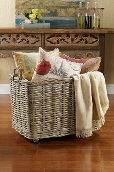 Add wheels to a basket! Easy idea!