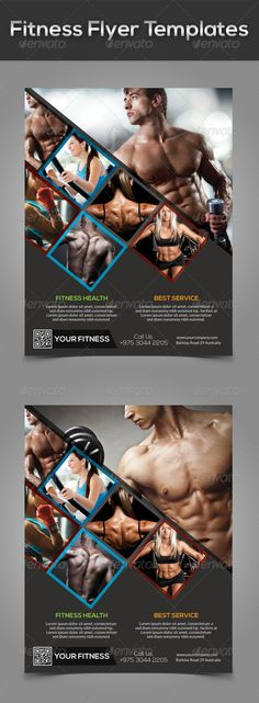 Fitness\/Gym Flyer Template V7 Flyer template, Template and Vs - fitness flyer template