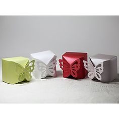 Favor boxes for a butterfly themed wedding