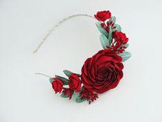 Headband Marsala от FlowerFromEugene на Etsy