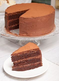 Chocolate Cake (this looks amazing! Sweet Recipes, Snack Recipes, Dessert Recipes, Cake Cookies, Cupcake Cakes, Rudolph's Bakery, Cake Recept, Baking Bad, Sweet Bakery