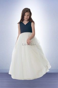 Wedding Dresses, Bridesmaid Dresses, Prom Dresses and Bridal Dresses Bill Levkoff Flower Girl Dresses - Style 15401 - Bill Levkoff Flower Girl Dresses, Fall Chiffon bodice with Ivory skirt. Flower Girl version of style Shown in Navy/Ivory. Lavender Bridesmaid Dresses, Bridesmaid Dresses Under 100, Vintage Bridesmaid Dresses, V Neck Prom Dresses, Girls Dresses, Flower Girl Dresses, Wedding Dresses, Junior Bridesmaids, Dresses Dresses