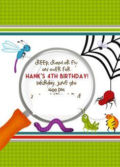 Bug Birthday invite designed by SugarTotDesigns on Etsy.