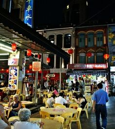 """Hawker centres offer great local and regional food at really reasonable prices, so make sure you visit a few of them while in Singapore... Chinatown's Smith Street also becomes a """"food street"""" during the evening, with stalls that serve scrumptious food for peanuts 